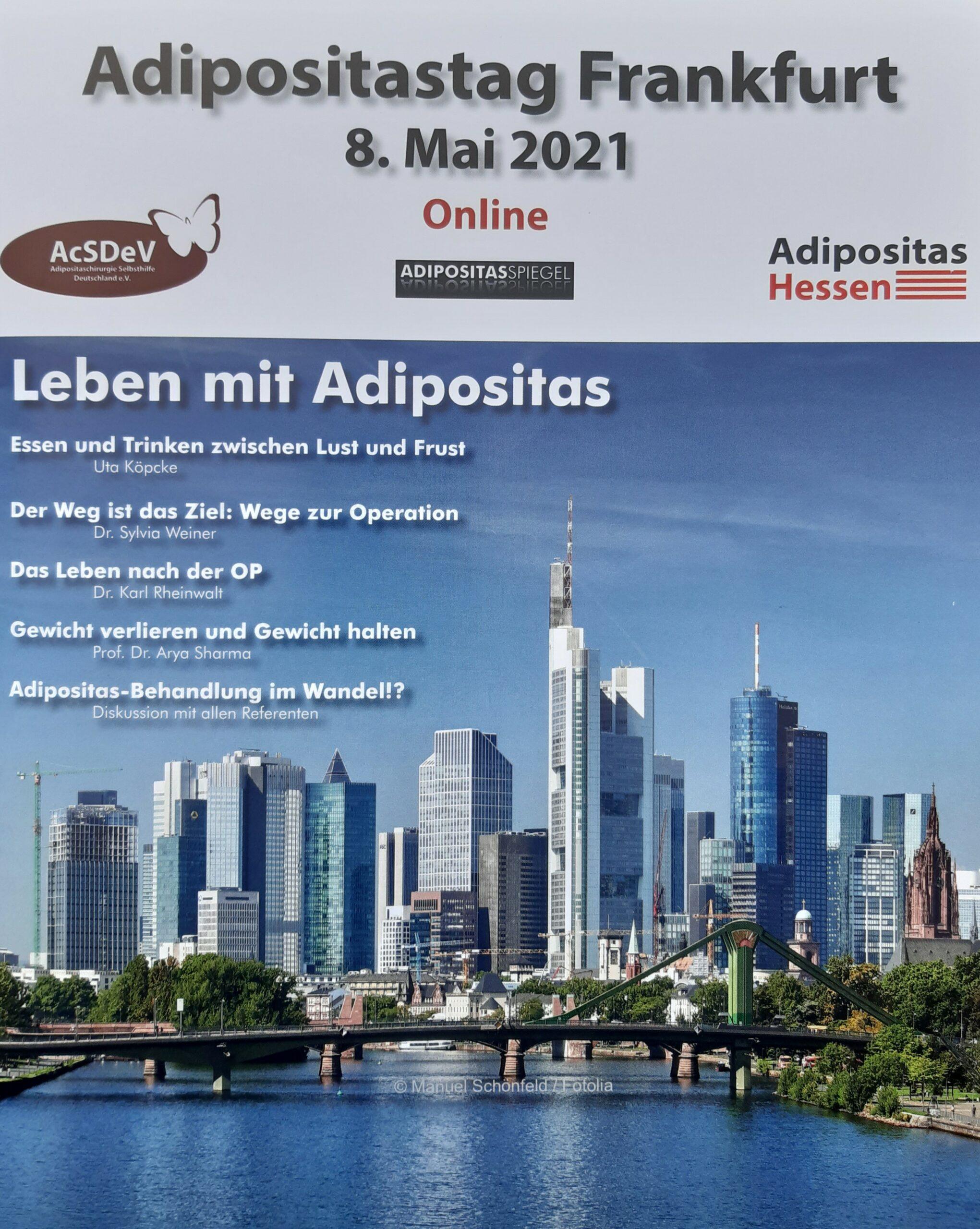 Foto Adipositastag 2021 online aus Frankfurt in Oldenburg verfolgt